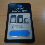 いろんなSIMサイズに対応! Ciscle Nano SIM MicroSIM 変換アダプタ 4点セット