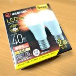 コスパがさらに進んだLED電球!消費電力、温度が低く、寿命が長い、アリスオーヤマ『LED電球 小型電球40形相当 E17口金 2個セット』